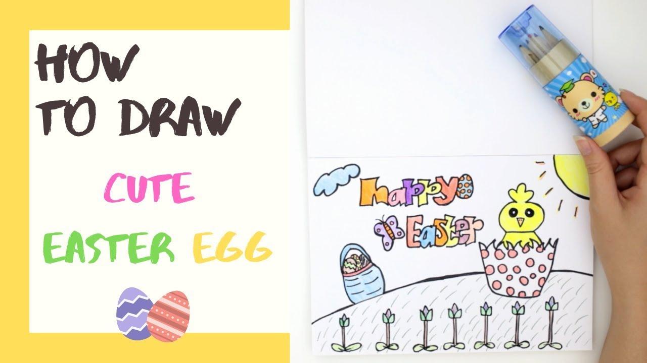 Happy Easter Berkreasi Dengan Menggambar Dan Mewarnai Telur