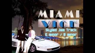 80s Miami Vice jam backing track