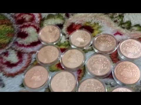 Copper bullion round collection