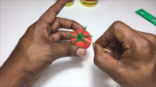 Clay Tomato | Clay fruits and vegetables | Play doh tomato | Clay modeling for kids