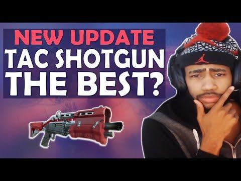 NEW SHOTGUN UPDATE - TAC SHOTGUN THE BEST? TAC VS PUMP COMPARISON - (Fortnite Battle Royale)