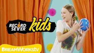 Autumn Miller's Water Balloon Pop Challenge I RECORDSETTER KIDS