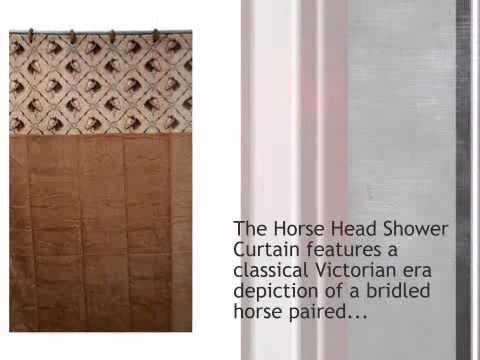 Horse Head Shower Curtain - lonestarwesterndecor.com