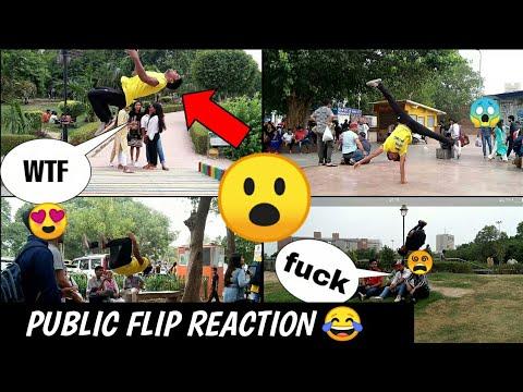 Flip in public || public flip reaction ||connaught place cp
