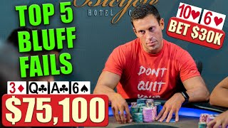 TOP 5 BLUFF FAILS | Million Dollar Cash Game 4.0 Highlights ♠ Live at the Bike!