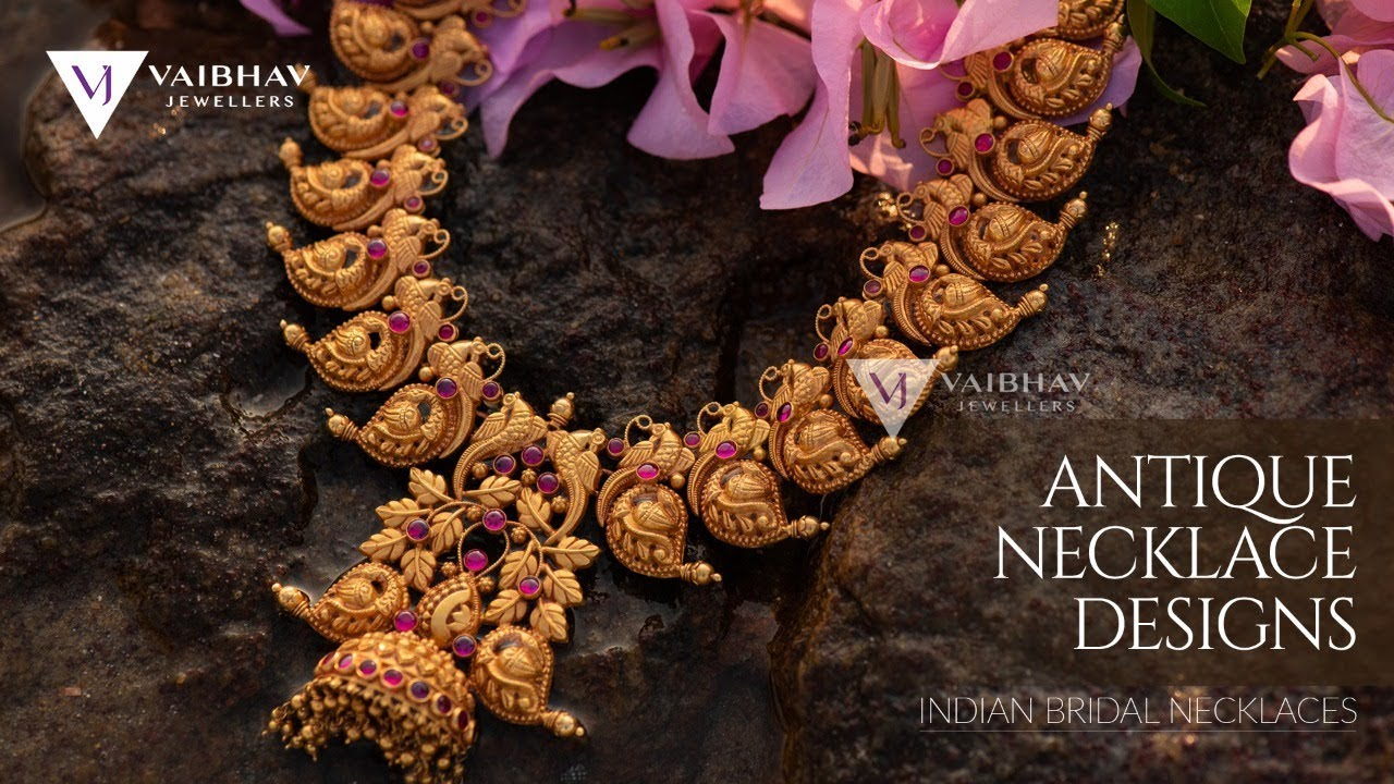 9e061bb2fe61f Latest Gold Necklace Designs   Awe-Inspiring collection of Antique Gold  Necklace  Vaibhav Jewellers