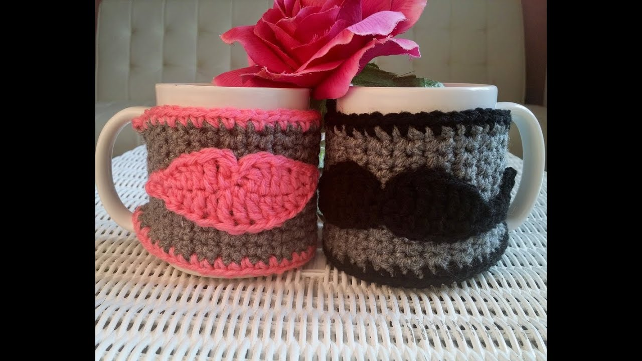 Crochet Glama\'s His & Hers Cup Cozies - YouTube