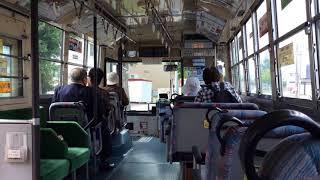 青森市営バスの走行風景(小柳地区)