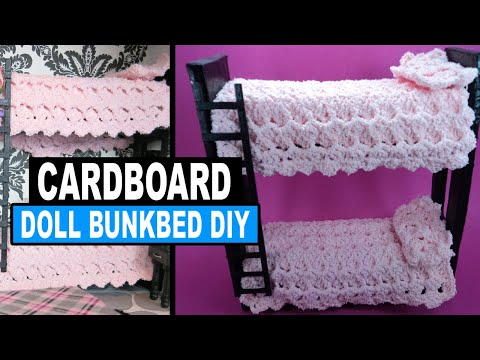 how to make doll bunk beds doll crafts youtube. Black Bedroom Furniture Sets. Home Design Ideas