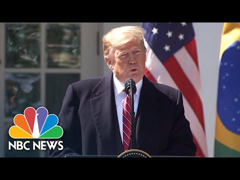 Watch Live: President Donald Trump Holds News Conference With Brazilian President | NBC News