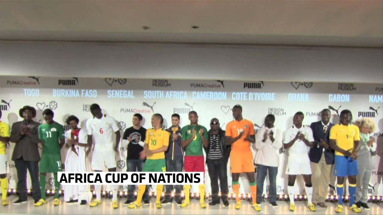 c6176b2dd91af Puma présente les nouveaux maillots pour la CAN 2012 - YouTube
