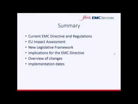 Implications of the New EMC Directive 2014/30/EU | Training Module Preview