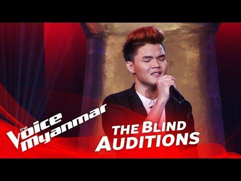 """ေစာေသာထူး (Saw Thaw Htoo): """"အသည္းကြဲသူ"""" - Blind Audition - The Voice Myanmar 2018"""