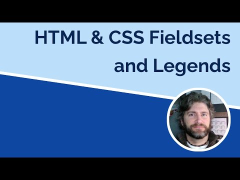 Fieldsets And Legends In HTML And CSS