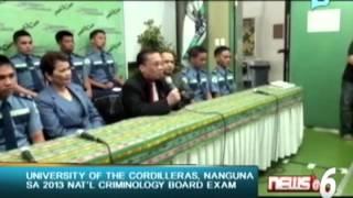 University of the Cordilleras, nanguna sa 2013 National Criminology Board Exam