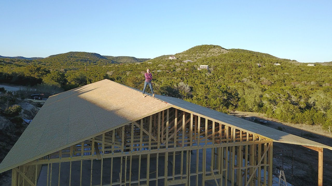 Building a shop trusses and patio youtube for Wilkerson builders