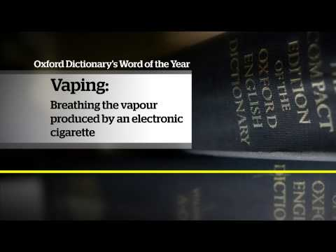 Oxford Dictionaries picks 'vape' as word of the year