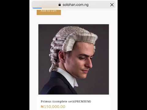 Lawyers Wig and gown purchase - YouTube