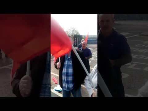 Unite The Union protests in Swindon today!