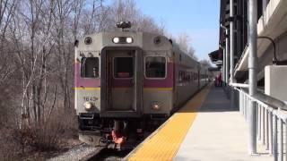 Littleton, MA: MBTA Commuter Train 1017, Inbound to Boston