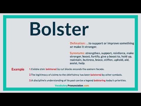 What Is The Definition Of Bolster