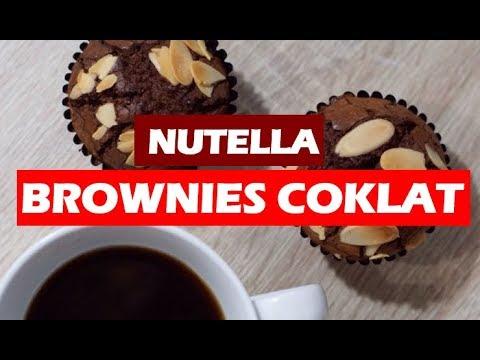 resepi-kuih-raya---brownies-coklat-nutella-(-guna-3-bahan-jer-)