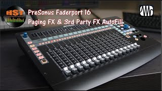 Paging FX & 3rd Party FX AutoFill - Faderport 8/16 (Studio One 4.5.5) Part 1 of 5