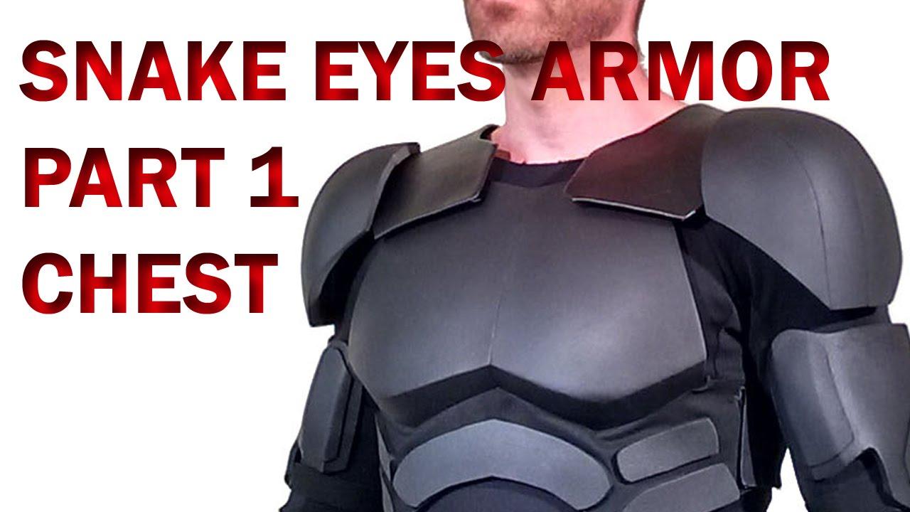 Snake Eyes GI Joe Retaliation How To DIY Part 1 Foam Armor - Chest ...