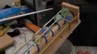 Marble lifter using an Archimedes' screw