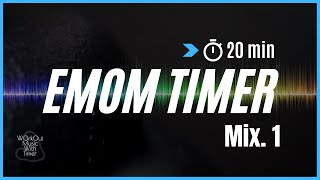 Workout Music with timer -  EMOM 20 min - Mix #4