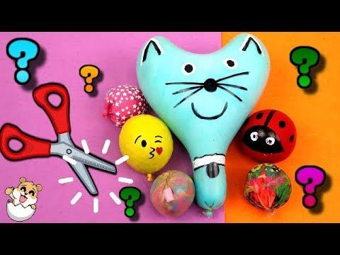 Cortando y abriendo juguetes blanditos o pelotas antiestres - Eres genial con Eva y Lina