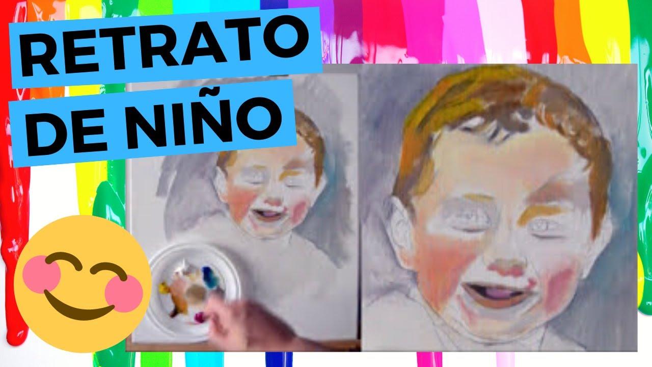 Retrato de ni o con pintura al leo paso a paso so youtube - Retratos de ninos al oleo ...