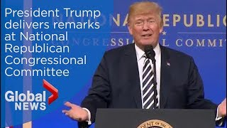 Trump delivers remarks at the National Republican Congressional Committee (FULL SPEECH)