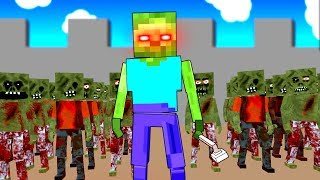 Scary Minecraft Zombies Invade Our Fortress in Paint the Town Red!