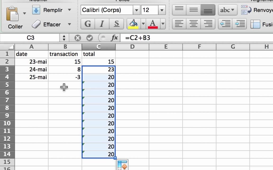 Häufig Excel: Création de formule pour gérer un budget - YouTube LT67