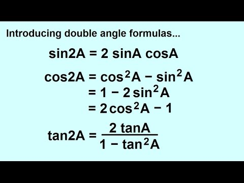 PreCalculus - Trigonometry: Trig Identities (22 of 57) Double Angle Formula: Introduction