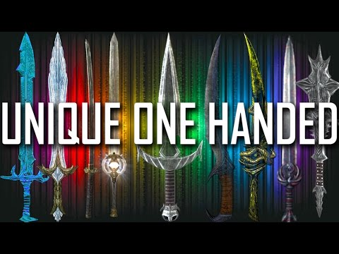 Skyrim - All Rare & Unique One Handed Weapons