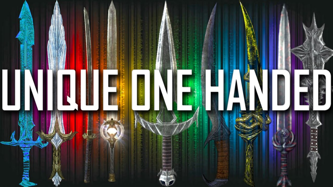 Skyrim all rare unique one handed weapons youtube for Unique one