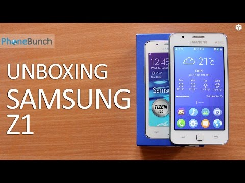 Samsung Z1 Tizen OS Smartphone Unboxing and Quick Review