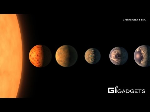 NASA   Seven earth-sized planets have been observed