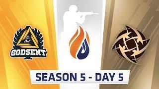 ECS Season 5 Day 5 - Godsent vs NIP