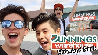 HIDE AND SEEK IN BUNNINGS!!! *KICKED OUT*