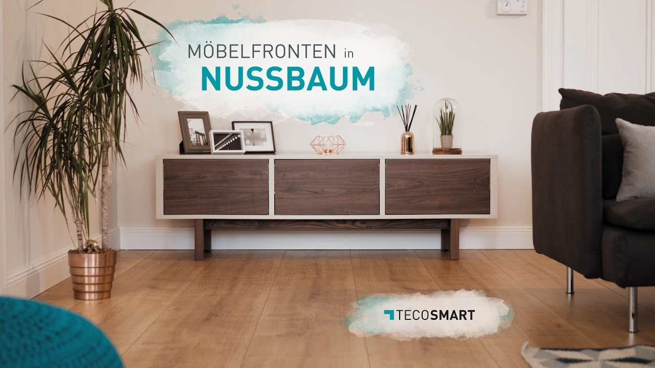 tecosmart m bel bekleben in nussbaum optik youtube. Black Bedroom Furniture Sets. Home Design Ideas
