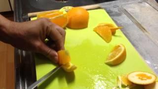 オレンジの飾り切り 便利なフルーツカットシリーズNO.13