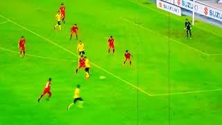 Malaysia VS Laos. Hebat!! Gol pertama Perlahwanan AFF Suzuki Cup 2018