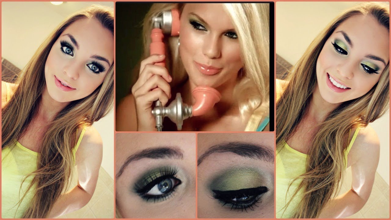 Taylor Swift Our Song Makeup Tutorial Green Smokey Eyes Youtube