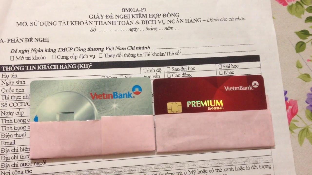 Làm thẻ ATM tại vietinbank