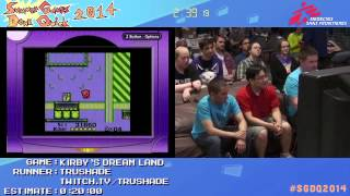 Summer Games Done Quick 2014 - Part 7 - Kirby's Dream Land