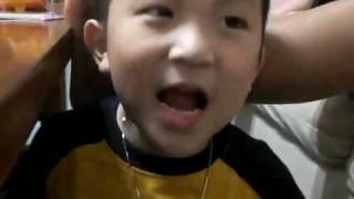 """Little Asian Kid Trying To Say """"Fish"""" (part 2)"""