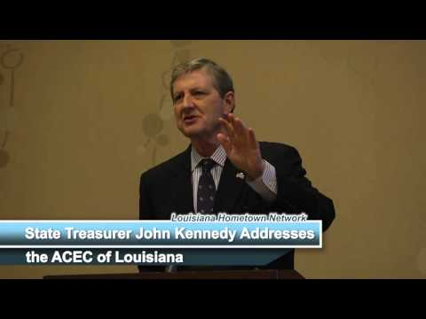 State Treasurer John Kennedy Address the ACEC of Louisiana